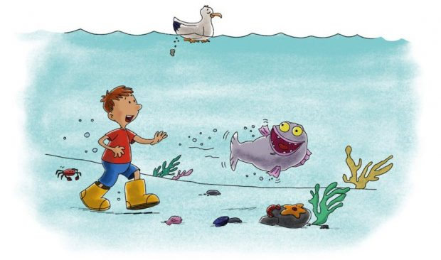 Fjodor and Palle taking a walk under water