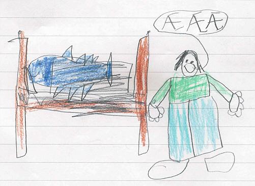 Palle findet Fjodor in Mamas und Papas Bett